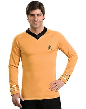 Klassisk Gull Captain Kirk Star Trek Voksenkostyme