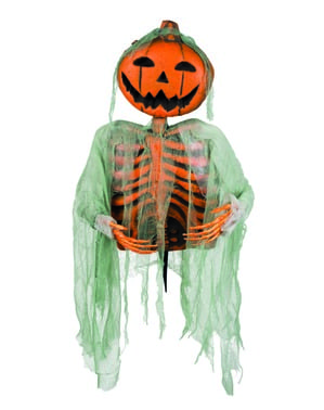 Figura decorativa de abóbora fantasma