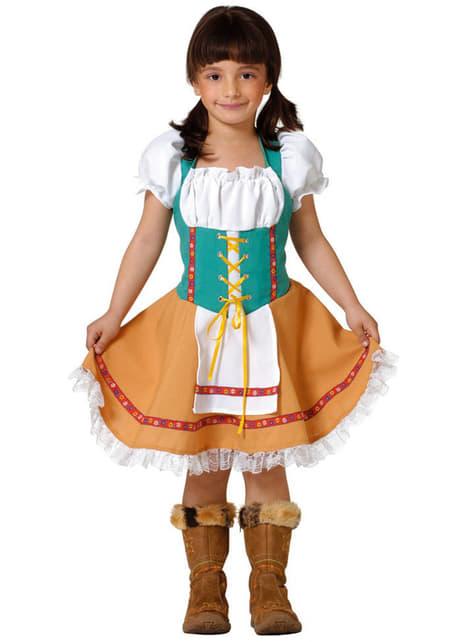 תלבושות טירולי עבור ילדה