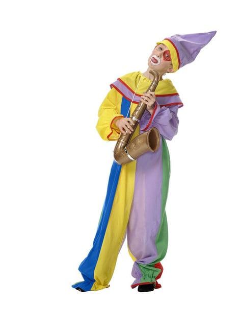 Harlekin Klovn Kostyme for Gutt
