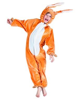 Hasen Onesie Kostüm braun für Jungen