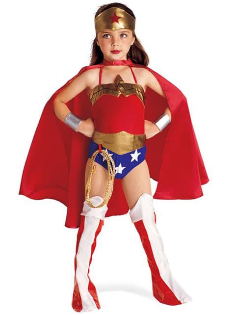 Déguisement Wonder Woman fille avec cape