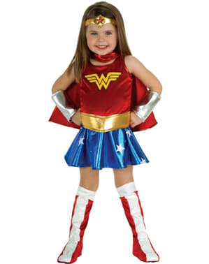 Wonder Woman Deluxe Maskeraddräkt Barn