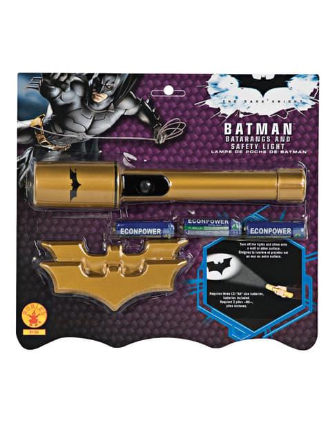 Batman lygte og batarangs