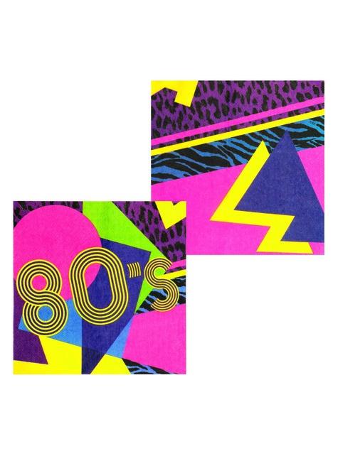 12 eighties napkins (33x33 cm) - Pop Party