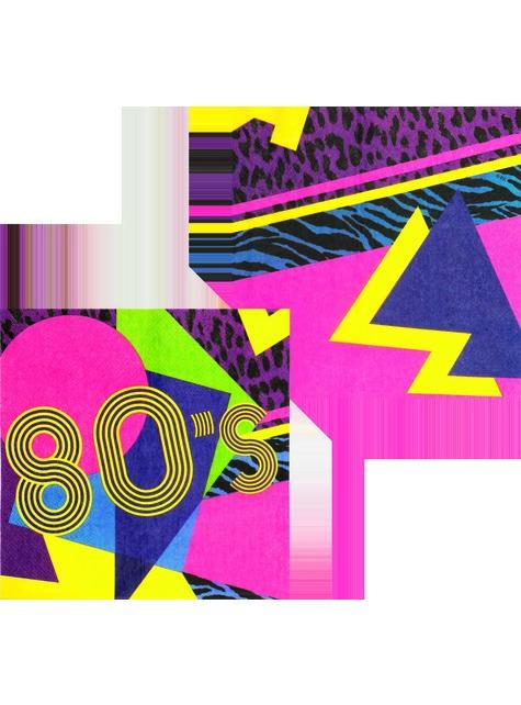 12 eighties napkins (33x33 cm) - Pop Party - for parties