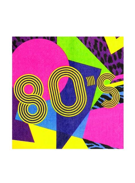 12 eighties napkins (33x33 cm) - Pop Party - cheap