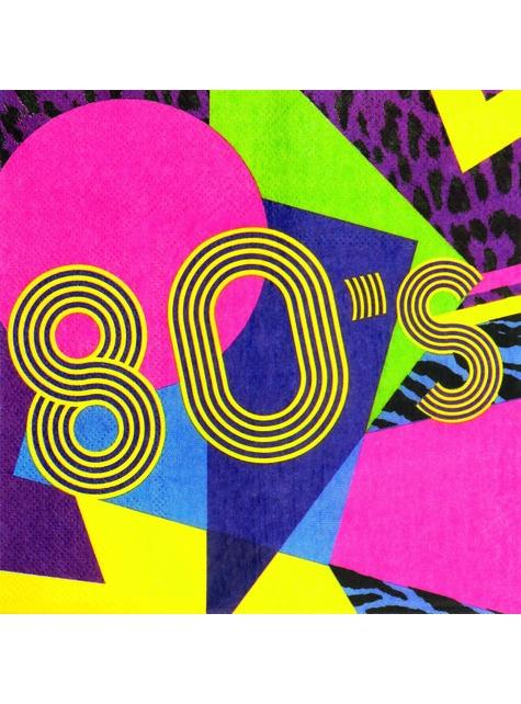 12 Serviettes en papier années 80 (33x33 cm) - Pop Party