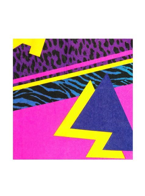 12 servilletas años 80 (33x33 cm) - Pop Party - para niños y adultos