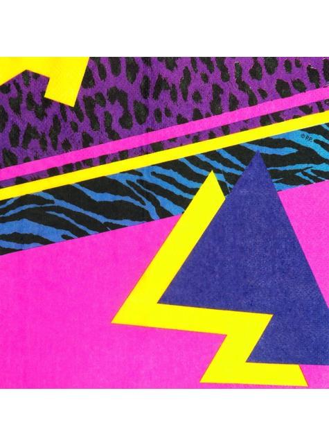 12 eighties napkins (33x33 cm) - Pop Party - funny