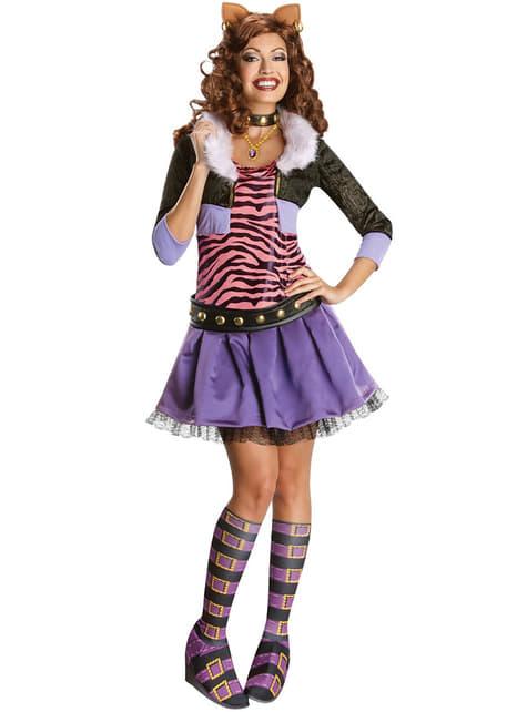 Fato de Clawdeen Wolf Monster High para adulto