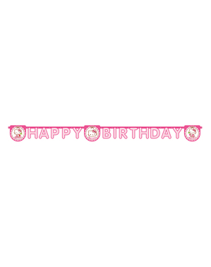 "Hello Kitty ""Happy Birthday"" Garland - Hello Kitty Hearts"