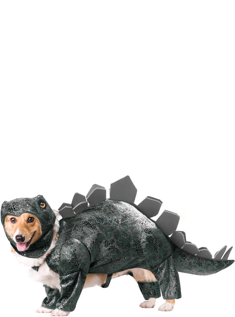 Disfraz de dinosaurio estegosaurio para perro