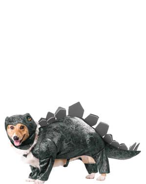 Fato de dinossauro stegosaurus para cão