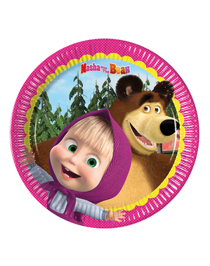 8 Masha og Bjørnen tallerkner (20 cm)