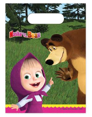 6 Χάρτινα Σακουλάκια Masha and the Bear