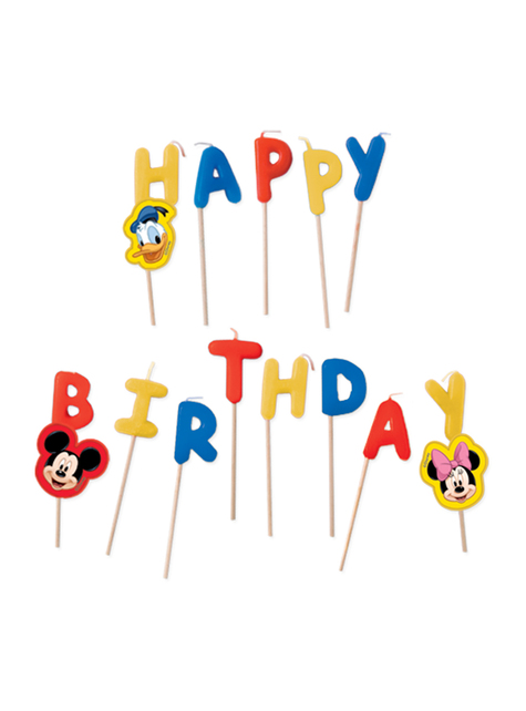 Velas de cumpleaños Mickey Mouse - Playful Mickey