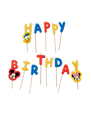 Velas de aniversário Mickey Mouse - Playful Mickey
