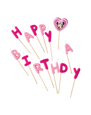 Minnie Mouse Birthday Candles– Minnie Happy Helpers