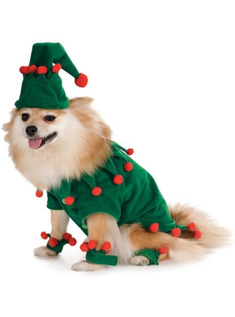 Déguisement d'elfe de Noël pour chien