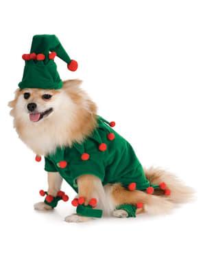 Disfraz de elfo navideño para perro