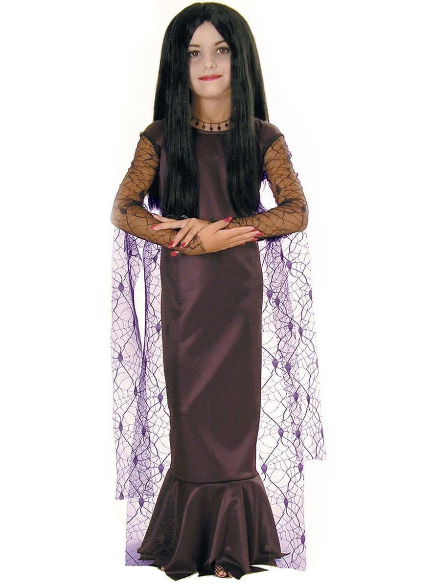 costume de morticia la famille addams pour fille acheter en ligne sur funidelia. Black Bedroom Furniture Sets. Home Design Ideas