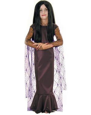 Fato de Mortícia de A Família Addams para menina