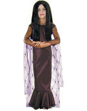 Mädchenkostüm Morticia aus der Familie Addams