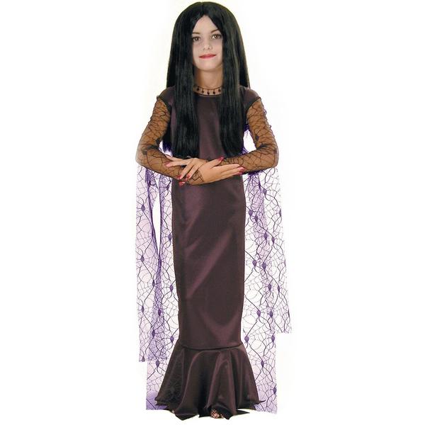 costume de morticia la famille addams pour fille acheter en ligne sur funidelia. Black Bedroom Furniture Sets. Home Design Ideas