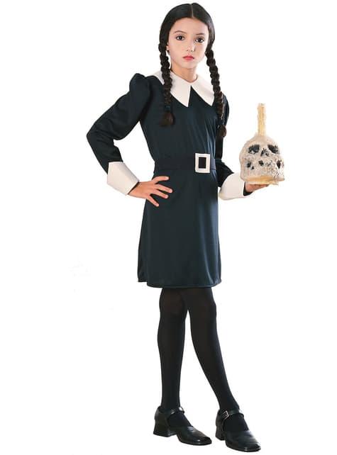 Costum Wednesday Familia Addams pentru fată