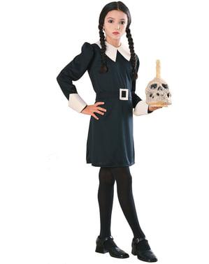 Wednesday fra Familien Addams kostume til børn