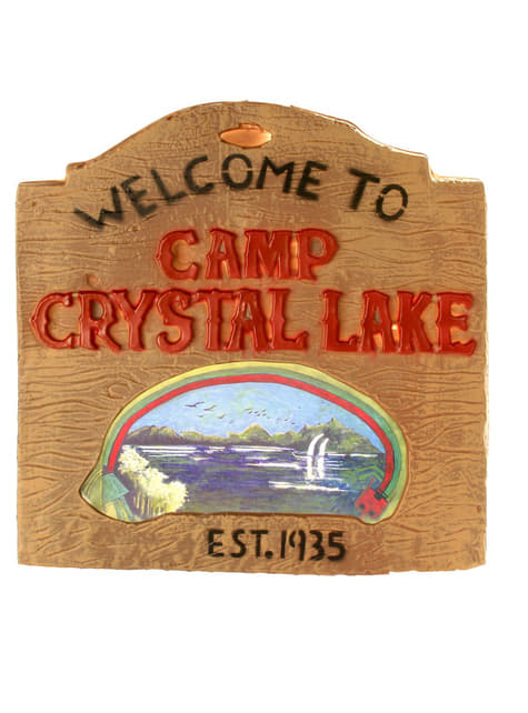 Schild Crystal Lake aus Freitag