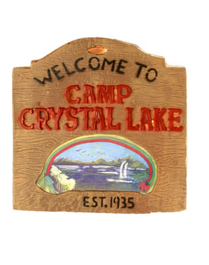 Friday the 13th Crystal Lake Sign Poster