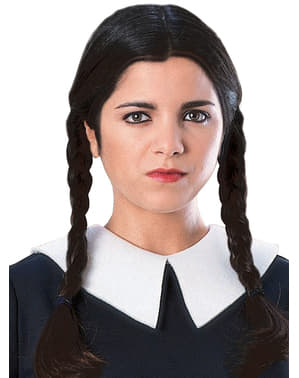 Peruca de Wednesday Friday de A Família Addams adulta