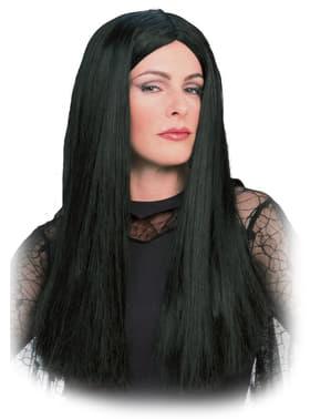 Perücke von Morticia aus der Familie Addams für Erwachsene
