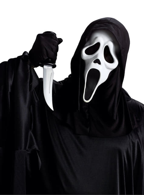 Kit maschera e coltello Scream adulto