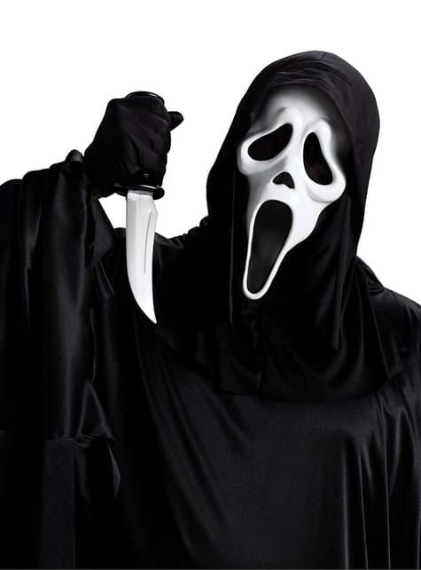 Sæt med Scream maske og kniv til voksne