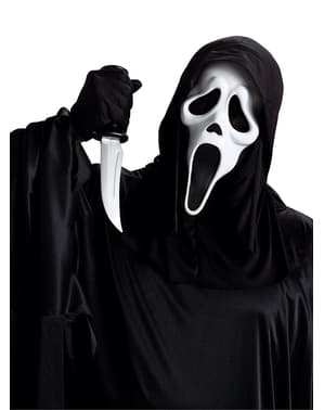 Kit máscara y cuchillo de Scream adulto