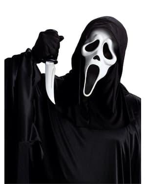 Zestaw maska i nóż Krzyk dla dorosłych