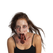Prótesis de barbilla zombie The Walking Dead