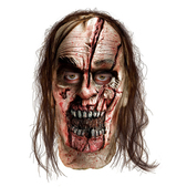 Máscara Zombie cara cortada The Walking Dead