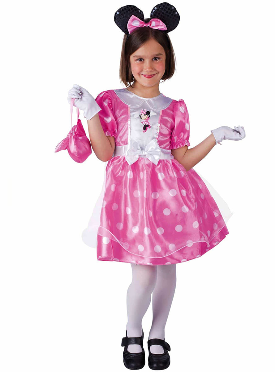 Disfraz de Minnie clásico rosa. Entrega 24h | Funidelia