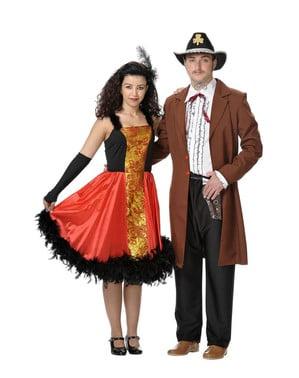 Kostüm Saloon Spieler