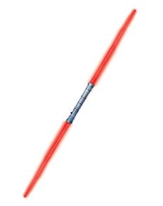 Doppia spada laser rossa Darth Maul