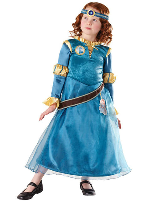 Kostium Merida Waleczna Deluxe dla dziewczynki