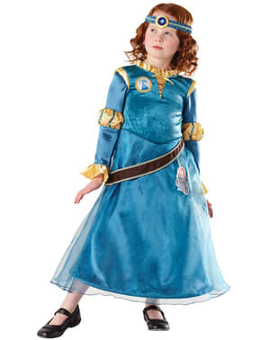 Merida fra Modig deluxe kostume til piger