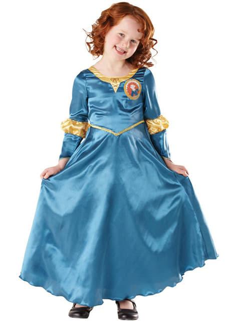 Merida fra Modig classic kostume til piger
