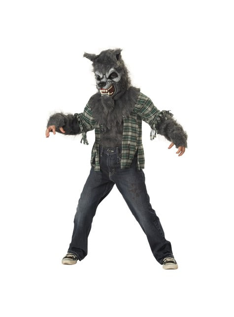 Ond ulvemand kostume til børn