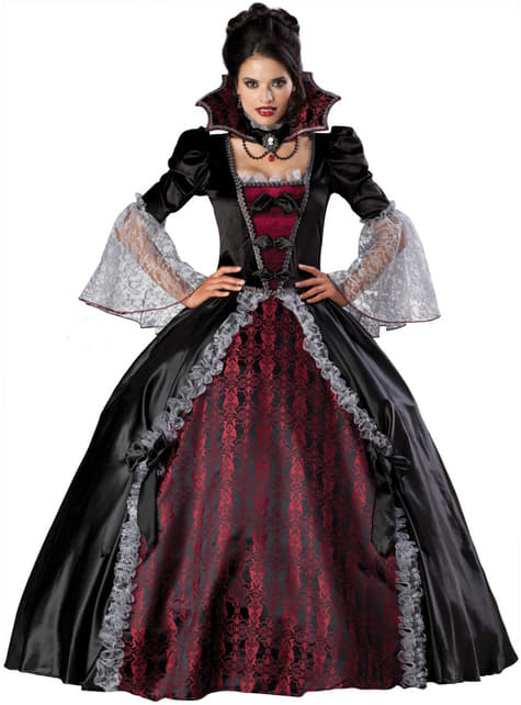 Kvinnlig Vampyr från Versalles elit dräkt