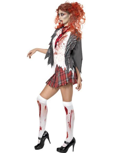 Disfraz de universitaria zombie - mujer